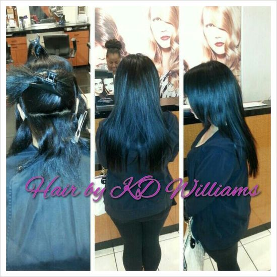 Partial sew in weave