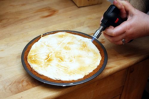 s'more pie. also instructions for making graham cracker crust