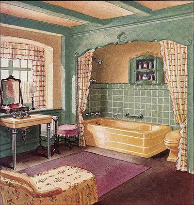 Image detail for -Labels: Bathroom Artwork Vintage