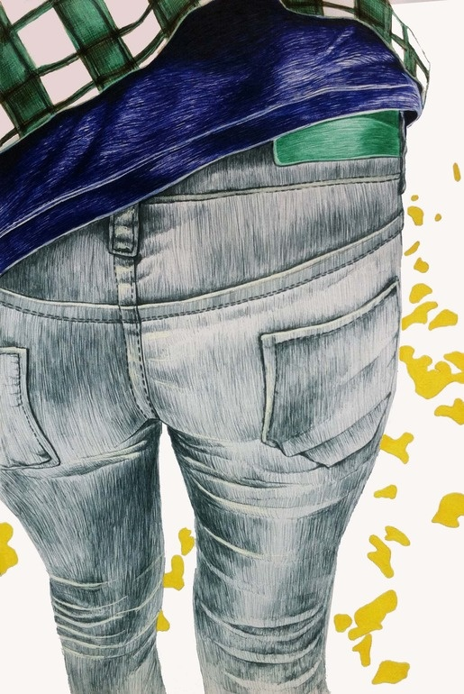 "Saatchi Online Artist: Bozena Janska; Pen and Ink, 2012, Drawing ""Gray Jean"""