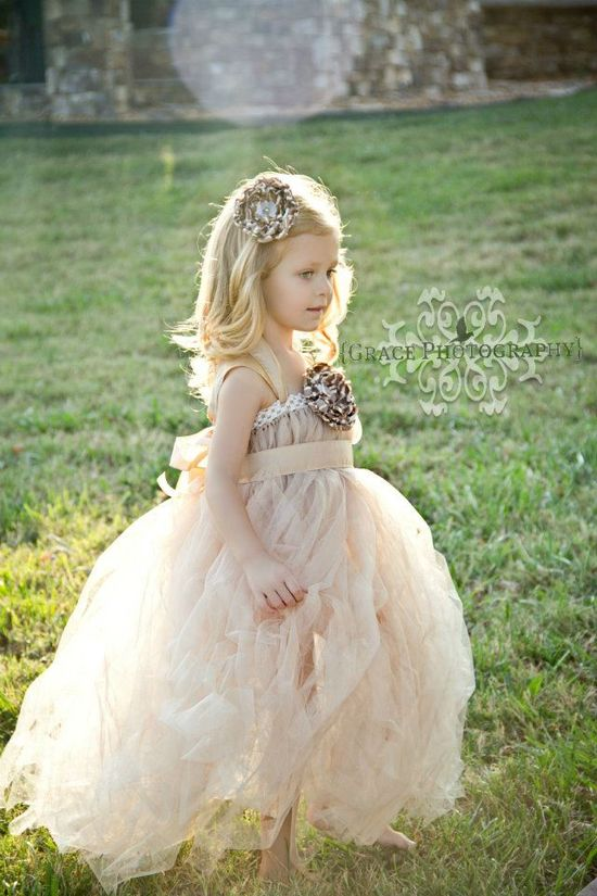 Flower girl vintage dress