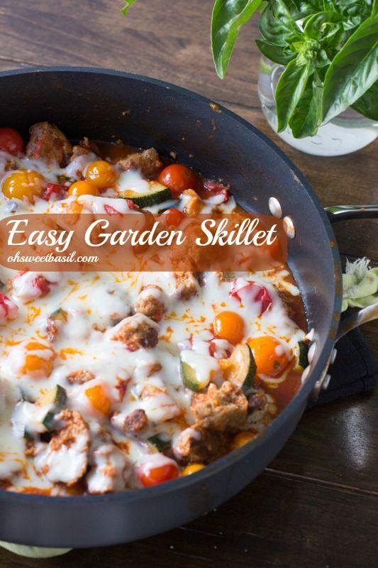 Easy Garden Skillet (Oh Sweet Basil) recipe #freezercooking