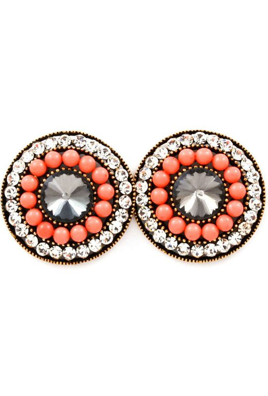 Coral stud earrings