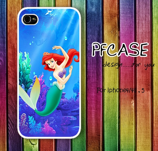Little Mermaid in the wonder Sea Pattern: Handmade Case for Iphone 4/4S