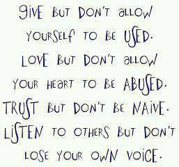 Give, love, trust and listen