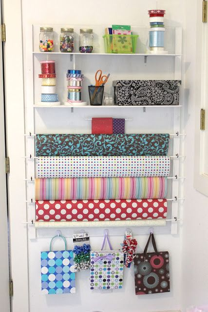 Repeat Crafter Me: DIY Gift Wrap Station
