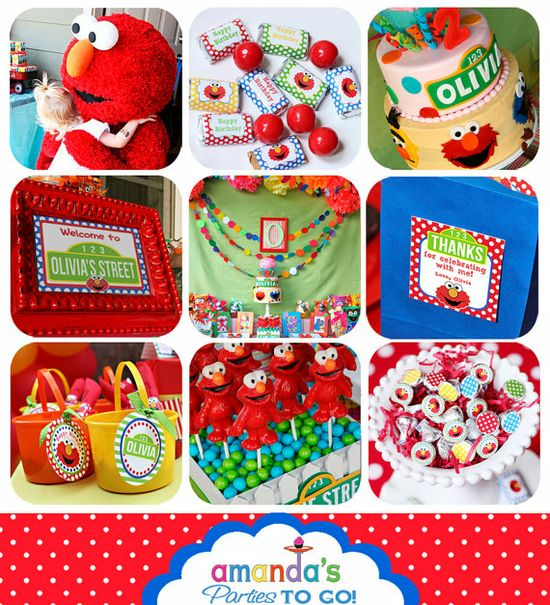 Elmo party items