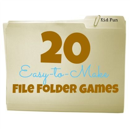 20 Easy-to-Make File Folder Games perfect for early learning skills!