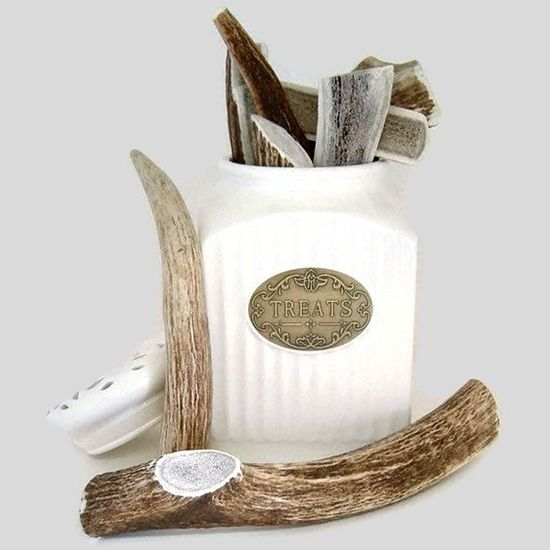 Antler Dog Chew  X-Large Whole Sized for Dogs 80 -110 lbs.. $21.00, via Etsy.