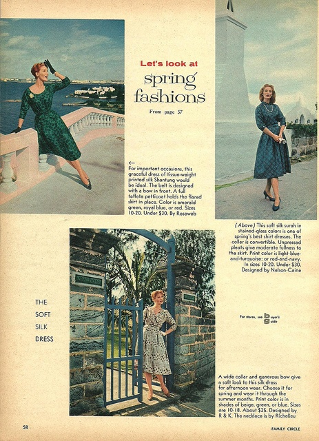 Let's look at spring fashions! #vintage #1950s #dresses