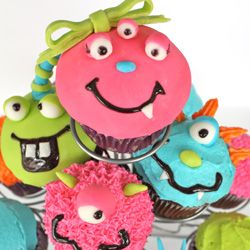 Monster cupcakes I made for my baby girl's first birthday