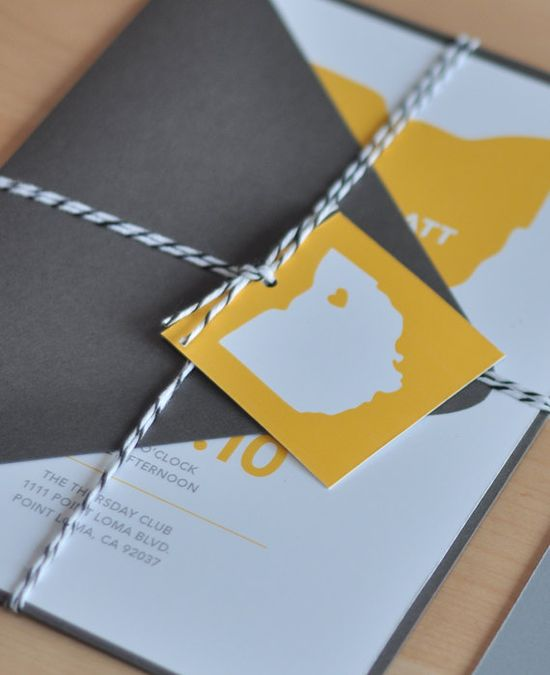 wedding invitations. state detail.