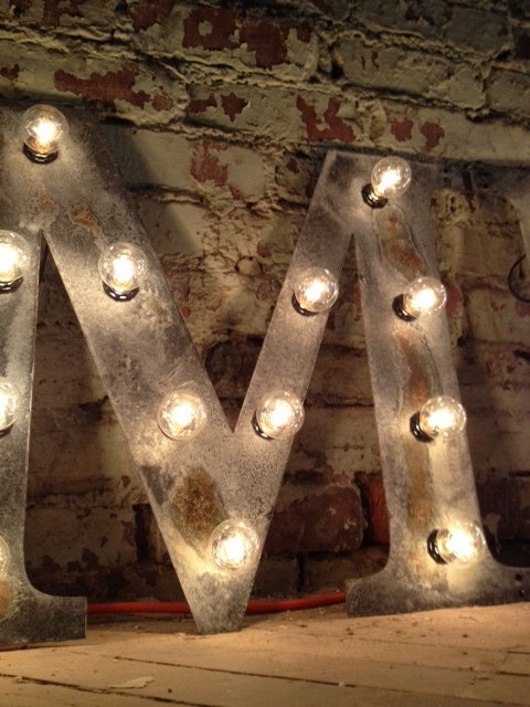 Vintage Letter M light fixture 24  marquee by WestVintageTradingCo, $125.00