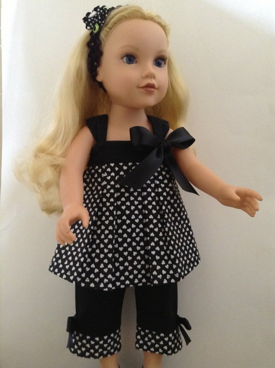 American Girl 18inch Doll Clothes  Capri Pants by HFDollBoutique, $20.00
