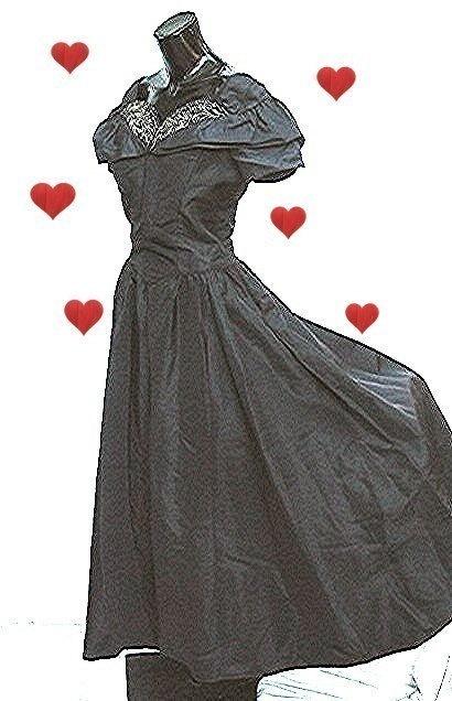 1950s 50s Evening Dress 1940s 40s Gown Floor by bonitalouise, $135.00
