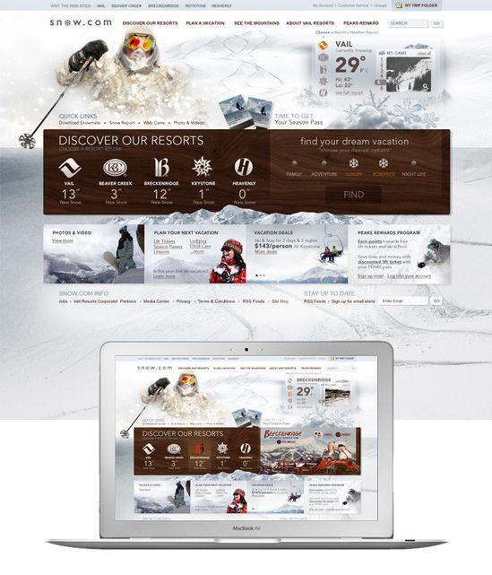 web design snow.com