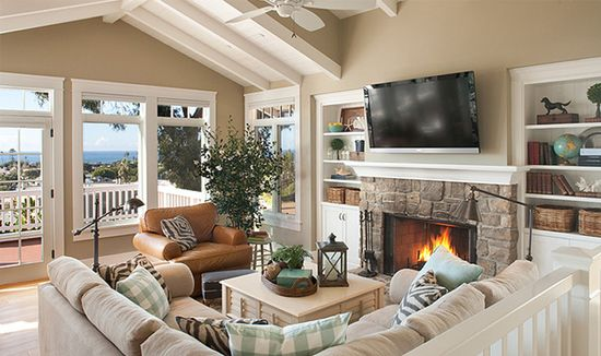 Rustic Rooster Interiors : cozy family room