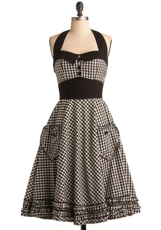 #summer #fashion #plaid #1950s #partydress #vintage #frock #retro #sundress #tartan #checkered #feminine
