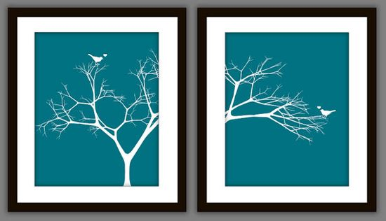 #Love #Birds in a Tree #Valentines or Wedding Art by PrintsofBeauty, $12.50 #Gift via @Etsy