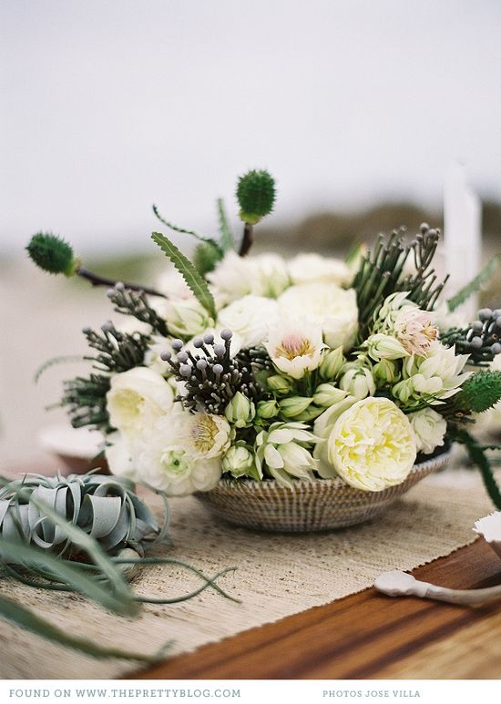 classic white & silver south african florals