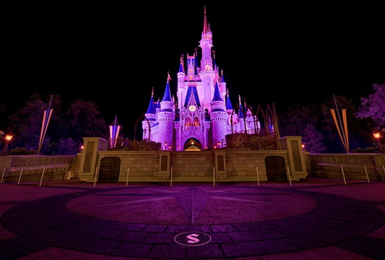 Cinderella Castle Forecourt HDR by Tom.Bricker, via Flickr