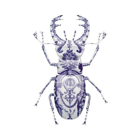 """Saatchi Online Artist: Magnus Gjoen; Vexel, 2012, Digital """"Delft Stag Beetle"""""""