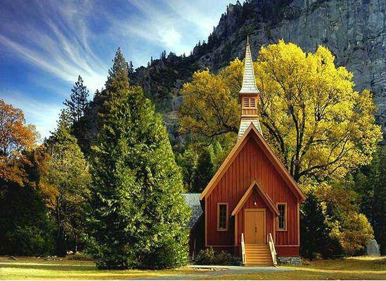 Yosemite chapel, Yosemite National Park