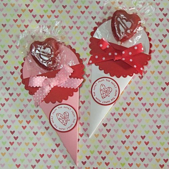Lollipop Holders, Great as Party Favors - Stampin Up Petal Cone Die