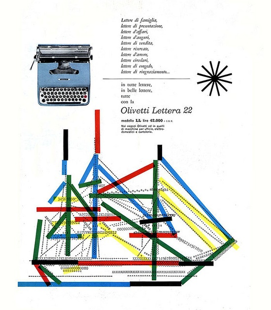 Olivetti Lettera 22 Advertising