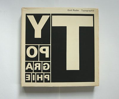 book cover by Emil Ruder (1967)