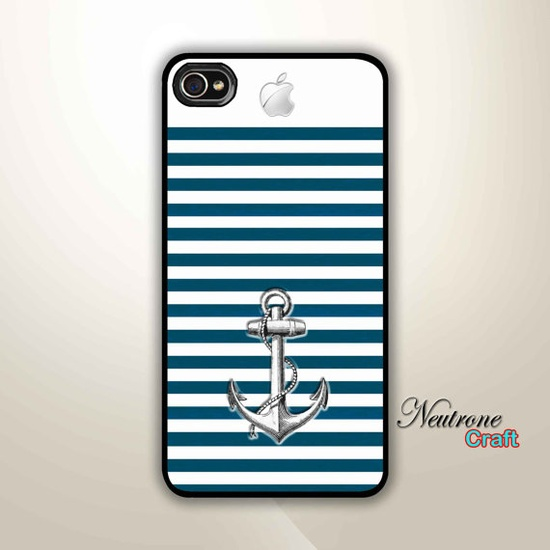 iPhone 4 Hard Case  Chevron anchor with Cute by NeutroneCraft, $15.50