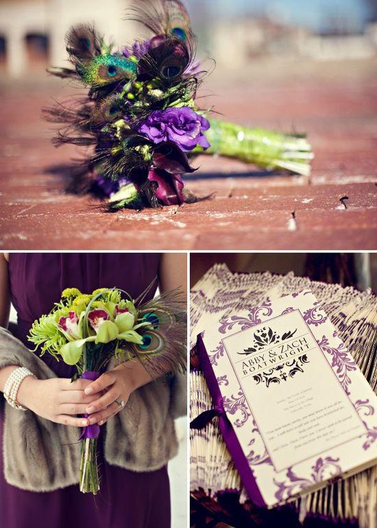 vintage purple wedding