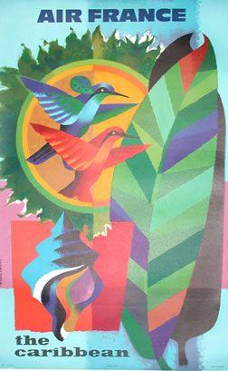 Jacques Nathan-Garamond vintage travel poster