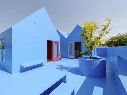 roof garden in Blue
