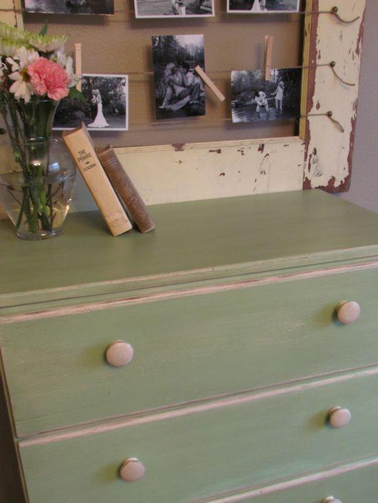 Shabby Chic dresser and picture frame - myshabbychicdecor... - #shabby chic #home decor #design #ideas #wedding #living room #bedroom #bathroom #kithcen #shabby chic furniture