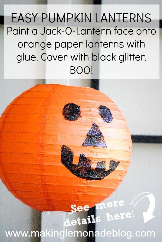 Halloween Decorations: DIY Pumpkin Lantern