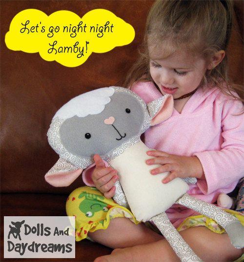 Lamb PDF Sewing Pattern Stuffed Toy Animal Sheep Softie. $10.00, via Etsy.