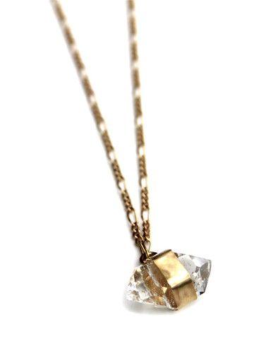 14K Gold Herkimer Diamond Necklace