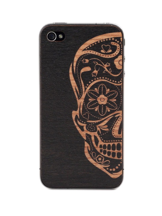 Sugarskull Black iPhone Cover