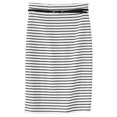 $19.99 Xhilaration Juniors Striped Pencil Skirt - Ivory/Black