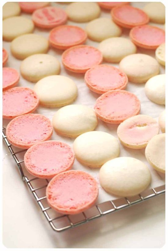 White chocolate Candy Cane macarons Recipe