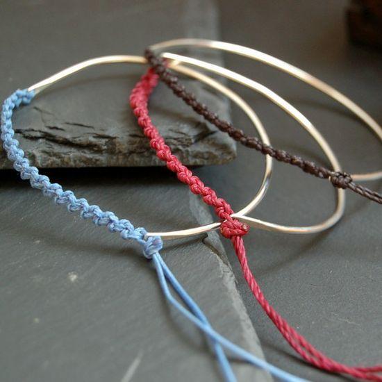 Friendship bracelets and macrame