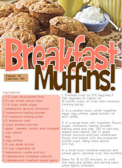 Breakfast muffins for healthy diet :]
