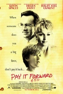 I remembered how touching this movie is and it started a movement to pay it forward.