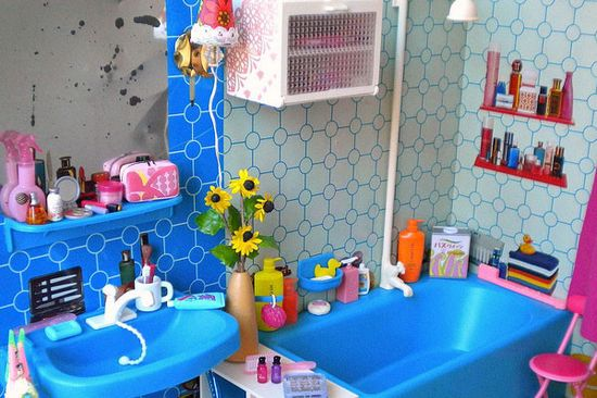 18 Cool Blue Kids Bathroom Design Ideas
