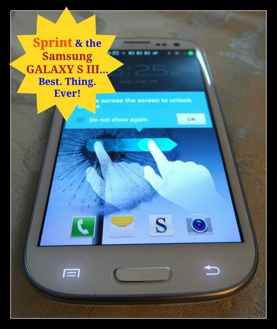 Samsung S III Sprint Phone Review @ Energizer Bunnies Mommy Reports
