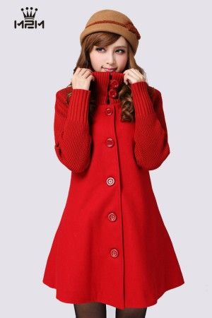 Korean Winter Fashion Long Sleeve Woolen Coat