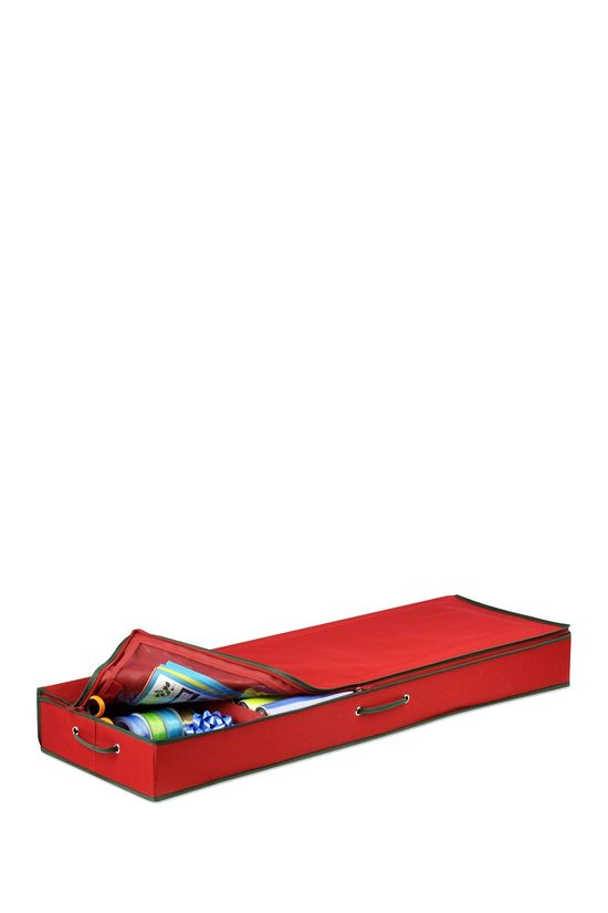 Red Canvas Gift Wrap Organizer