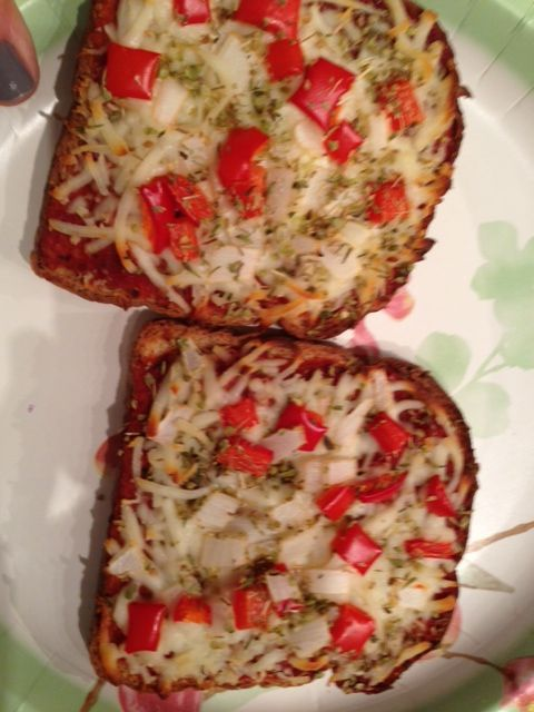improv pizza on whole grain bread!