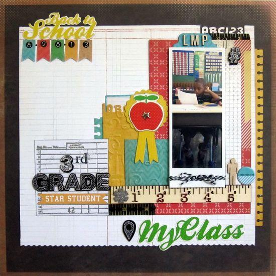 #papercraft #scrapbook #layout    Back to School.  3rd Grade - Scrapbook.com